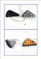 LED indicators fairing mounted flush fit clear lens